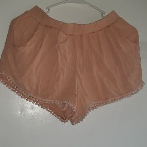 Light Peach- •Love Culture•| Tassel Pompom Shorts